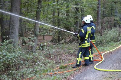 Übung zur Waldbrandbekämpfung