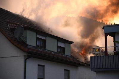 Vorschaubild zur Meldung: Einsatz Nr. 37 - Überlandhilfe Dachstuhlbrand Neckargemünd