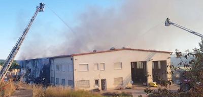 Vorschaubild zur Meldung: Großbrand in Mihla