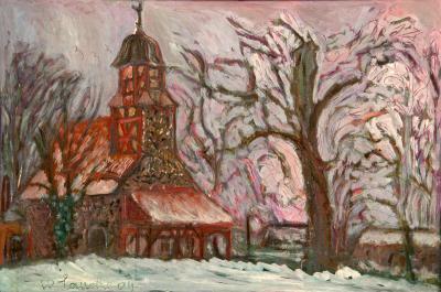 Kirche Zixdorf von Walter Lauche