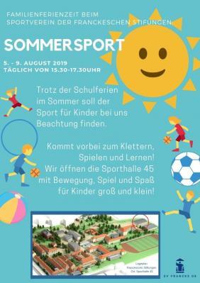 Foto zur Meldung: Sommersport beim SV Francke 5.8. - 9.8.2019