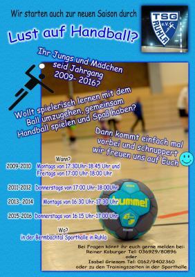Foto zur Meldung: Lust auf Handball ?