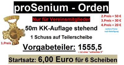 Ausschreibung proSenium Orden und Preise