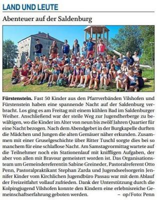 Vorschaubild zur Meldung: Abenteuer auf der Saldenburg