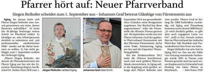 Vorschaubild zur Meldung: Pfarrer hört auf: Neuer Pfarrverband