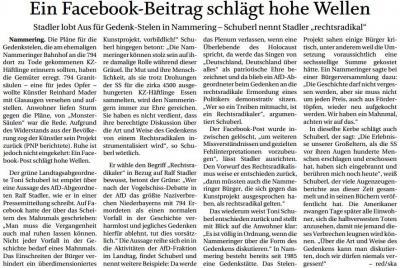 Vorschaubild zur Meldung: Ein Facebook-Beitrag schlägt hohe Wellen