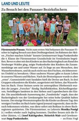 Vorschaubild zur Meldung: Zu Besuch bei den Passauer Bezirksfischern