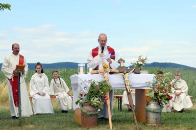 Der Gottesdienst der Pfarreiengemeinschaft am Distelfeld