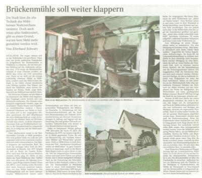 Foto zur Meldung: Brückenmühle Mühlheim / Main
