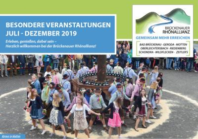 Vorschaubild zur Meldung: Veranstaltungskalender der Brückenauer Rhönallianz für das zweite Halbjahr 2019