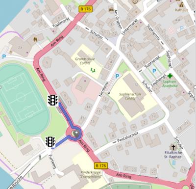 Vorschaubild zur Meldung: Erreichbarkeit der Stadtverwaltung und der Anlieger Furtweg während der Baumaßnahmen Kreisel