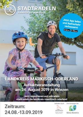 Vorschaubild zur Meldung: Pressemitteilung 37/2019-Auftaktfahrt des Wettbewerbs Stadtradeln in Märkisch-Oderland am 24. August in Wriezen