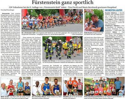 Vorschaubild zur Meldung: Fürstenstein ganz sportlich