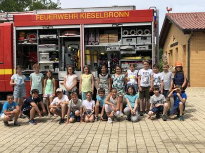Vorschaubild zur Meldung: Besuch bei der freiwilligen Feuerwehr Kieselbronn