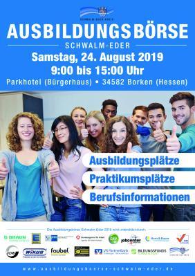 Foto zur Meldung: 17. Ausbildungsbörse Schwalm-Eder in Borken (Hessen)