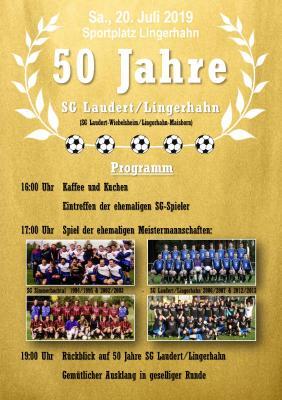 Foto zur Meldung: Feier zum 50jährigen Jubiläum der SG Laudert/Lingerhahn und Sportfest in Lingerhahn