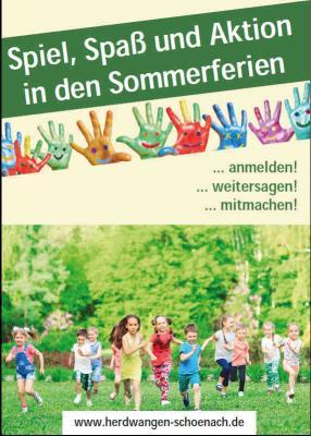 Vorschaubild zur Meldung: Kinderferienprogramm 2019 der Gemeinde Herdwangen-Schönach