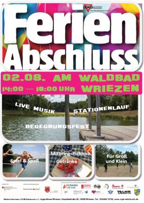 Vorschaubild zur Meldung: Ferienabschluss am Waldbad Wriezen 02.08.2019
