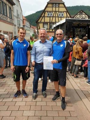 """Vorschaubild zur Meldung: STADTRADELN 2019: Team """"Männersport Elite"""" ausgezeichnet"""