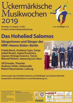 Vorschaubild zur Meldung: Uckermärkische Musikwochen, Kirche Boitzenburg, 18. August