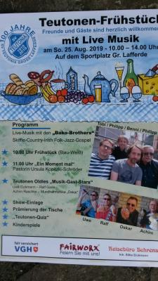 Teutonen-Frühstück mit Live-Musik