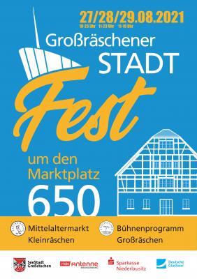 Großräschener Stadtfest zu 650 Jahren Ersterwähnung von Klein- und Großräschen
