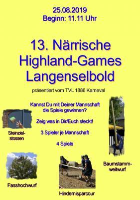 Vorschaubild zur Meldung: 13. Highland-Games der Selbolder Narren / Interne Mannschaften noch dringend gesucht!