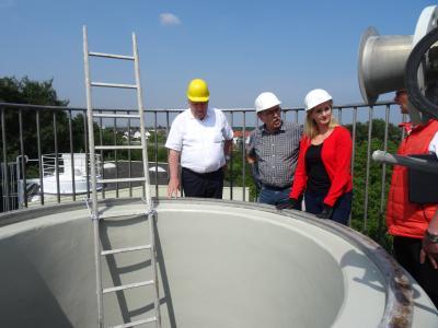 Foto zur Meldung: Zu Besuch im frisch sanierten Faulturm