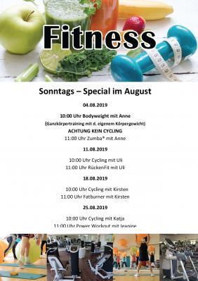 Foto zur Meldung: Fitness Secialkurse im August