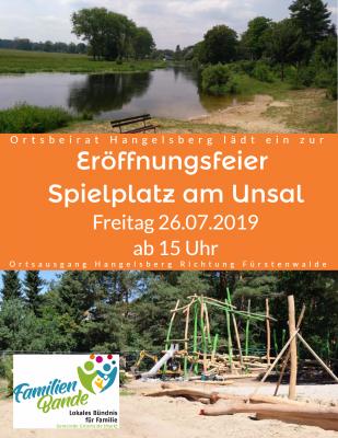 Vorschaubild zur Meldung: Eröffnungsfeier - Spielplatz am Unsal in Hangelsberg