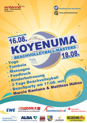 Vorschaubild zur Meldung: Koyenuma Beachvolleyball Masters 16.- 18.08.2019