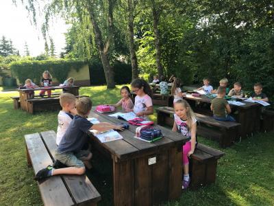 Foto zur Meldung: Grünes Klassenzimmer an der Grundschule am See