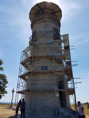 Vorschaubild zur Meldung: Sanierungsarbeiten am Bismarckturm