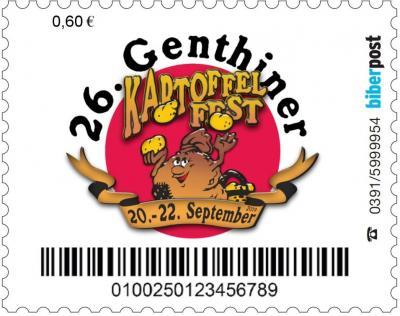 """Vorschaubild zur Meldung: Vorstellung der Sonderbriefmarke """"26. Genthiner Kartoffelfest 2019"""""""