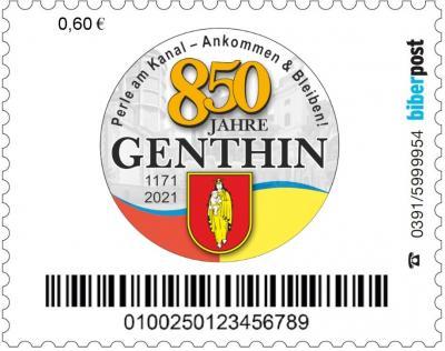 Foto zu Meldung: Sonderbriefmarke zum Stadtjubiläum 2021