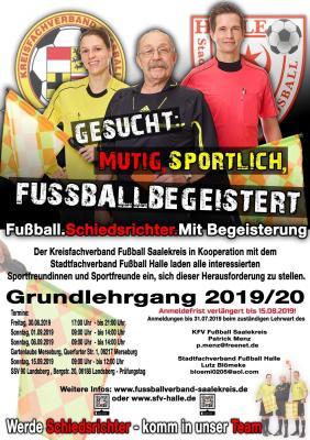 Foto zur Meldung: Jetzt noch anmelden! Schiedsrichter-Grundlehrgang 2019/2020