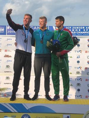 U23-WM im KI 1000m: Jakob Thordsen, Thomas Green, Adam Varga (Foto: Jan Francik)