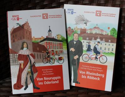 Vorschaubild zur Meldung: Radrouten - die AG Städte mit hist. Stadtkernen hat neue Radwanderkarten aufgelegt