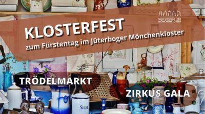 Foto zur Meldung: Flohmarkt auf dem Klosterhof zum Fürstentag am 14.09.