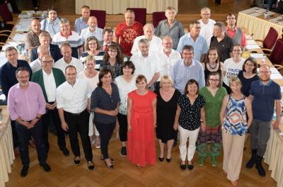 Unser Bild zeigt die Falkenseer Stadtverordneten im Rathaussitzungssaal (Bildautorin: Tanja M. Marotzke)