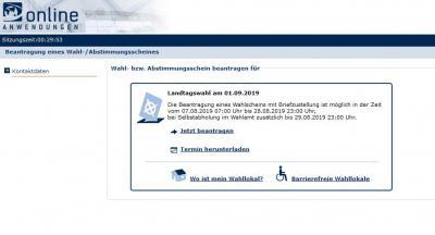Wahlschein-Antrag Online