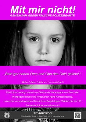 """Foto zur Meldung: """"Mit mir nicht"""" – Gemeinsam gegen falsche Polizeibeamte"""