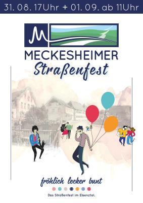 Plakat Meckesheimer Straßenfest 2019