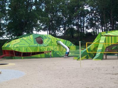 Vorschaubild zur Meldung: Echsenland-Spielplatz wieder freigegeben