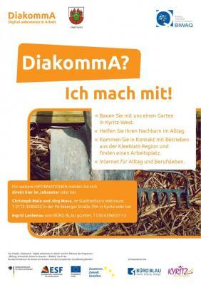 Vorschaubild zur Meldung: DiakommA - Digital ankommen in Arbeit: Bewerben Sie sich jetzt!