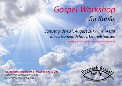 Vorschaubild zur Meldung: Gospel-Workshop für Jugendliche