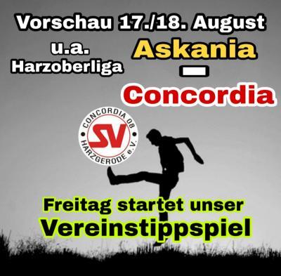 Vorschaubild zur Meldung: Vorschau 17./ 18. August - Harzoberliga Derby - Start Vereinstippspiel