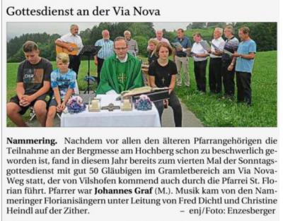 Vorschaubild zur Meldung: Gottesdienst an der Via Nova