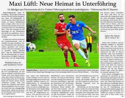 Vorschaubild zur Meldung: Maxi Lüftl: Neue Heimat in Unterföhring