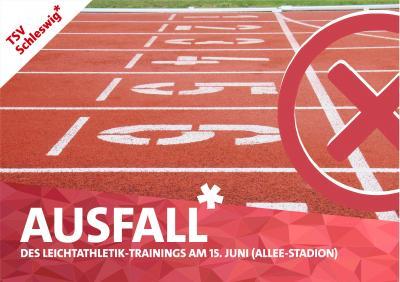 Foto zur Meldung: AUSFALL! -Leichtathletik- beim TSV Schleswig